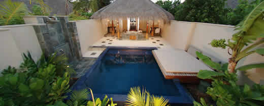 Huvafenfushi Maldives - Deluxe Beach Bungalow with Plunge Pool
